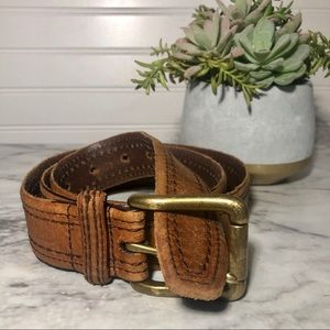 Fossil Men's Leather Belt Sz 36